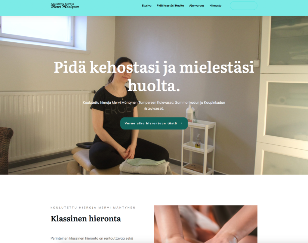 Nettirepen tekemä WordPress kotisivu yritykselle